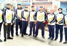 Kabra Altaf and other Judokas along with coach after returning from KIYG at Guwahati in Assam.
