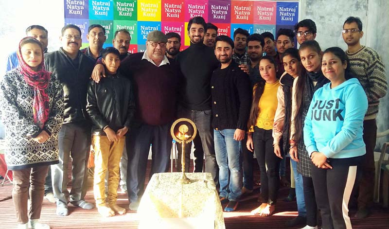 Participants of an Acting Workshop posing for a group photograph at Jammu on Thursday.