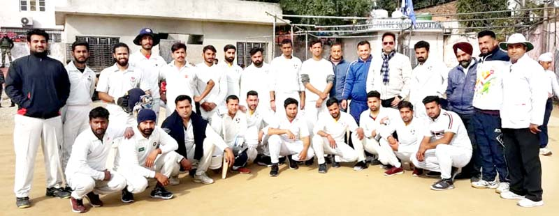 Winners posing along with officials at Parade ground in Jammu on Saturday.