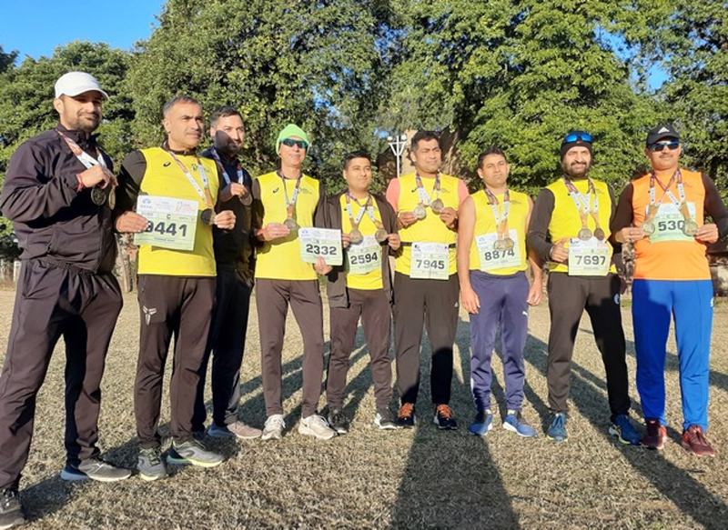 Runners from Jammu after excelling in Tata Mumbai Marathon 2020.