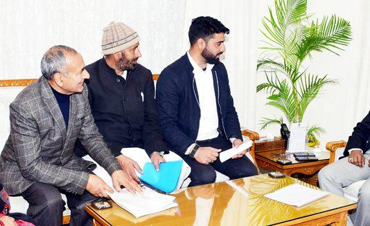 Lt. Governor G C Murmu meeting delegation of Sarpanch Association Doda on Thursday.