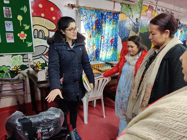 Director General, SWD Rehana Batul during visit to Bal Ashram in Udhampur on Friday.