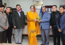JCCI delegation at a meeting with Principal Commissioner IT, J&K, Mona Singh in Jammu on Wednesday.