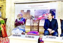 Union Minister, Dr Jitendra Singh addressing a function organised by Save Sharda Committee Kashmir at New Delhi on Monday.