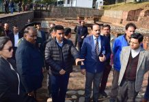 Lt. Governor Girish Chandra Murmu visiting ancient Buddhist Site Ambaran on Saturday.