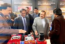 "Union Minister Dr Jitendra Singh going around different sections of India's first-ever multi-venue Mega Global Science Exhibition ""Vigyan Samagam"", after formally inaugurating it, at National Science Centre, New Delhi on Tuesday."