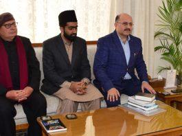 Lt Governor meeting delegation of Ahmadiyya Muslim Community on Wednesday.