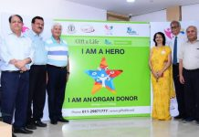 Representatives of Indraprastha Apollo Hospitals & IMA WDW during signing of MoU for cause of organ donation.