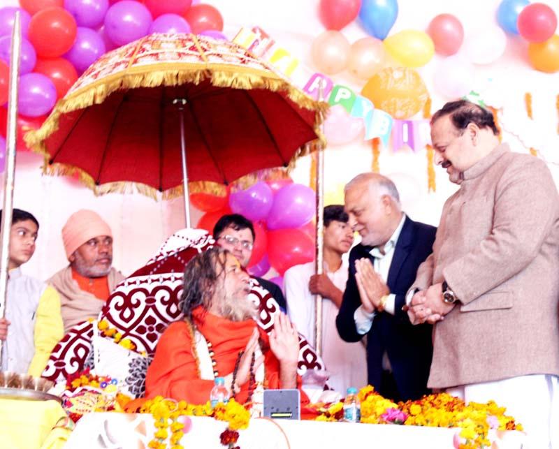 NC Provincial President Devender Singh Rana at a congregation in Sunderbani.