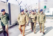 DGP on visit to Pantha Chowk Police Station at Srinagar.