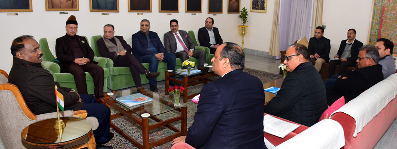Deputation of Jammu Civil Society during a meeting with J&K Lieutenant Governor, Girish Chandra Murmu.