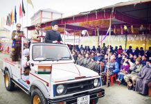 Deputy Commissioner Pulwama during Republic Day celebrations.