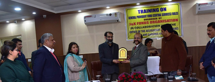 Participants being felicitated during Training Programme in Jammu on Tuesday.
