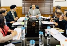 Union Minister Dr Jitendra Singh convening a high level joint-meeting of senior officials of the Union Ministry of Northeast as well as senior officers of the Gujarat and North Eastern State Governments, at New Delhi on Wednesday.