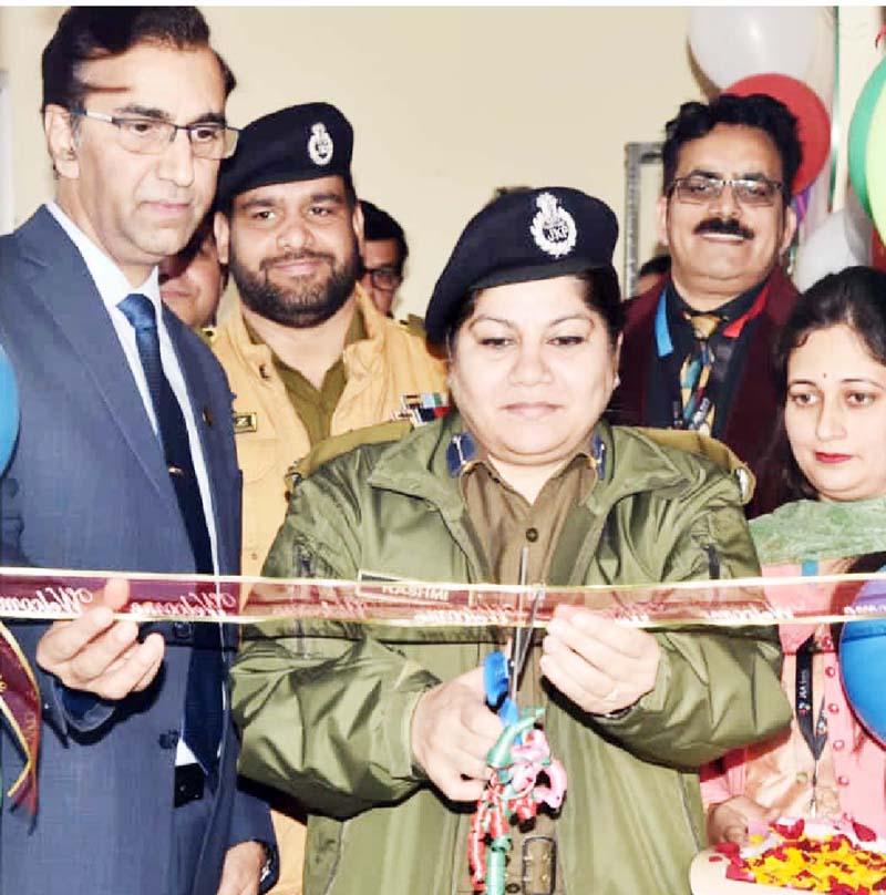 SSP Reasi Rashmi Wazir inaugurating an ATM of J&K Bank at DPL Reasi.