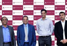 Officials of Axis AMC during launch of 'Axis ESG Equity Fund'.