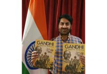 Balwant Thakur launching a book on Mahatama Gandhi in South Africa.