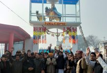 Devotees during the unveiling of idol of 'Data Ranpat Dev Ji' at Birpur on Saturday.