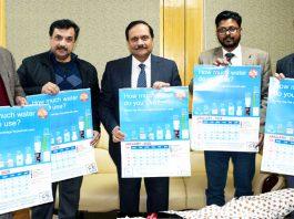 Advisor R R Bhatnagar releasing calendar in Jammu on Thursday.