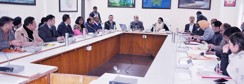 Commissioner Secretary Forest, Environment & Ecology, Sarita Chauhan chairing a meeting in Jammu on Tuesday.