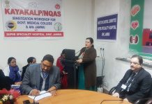 Dr Sunanda Raina, Principal and Dean GMC and AHs Jammu expressing her views during workshop.