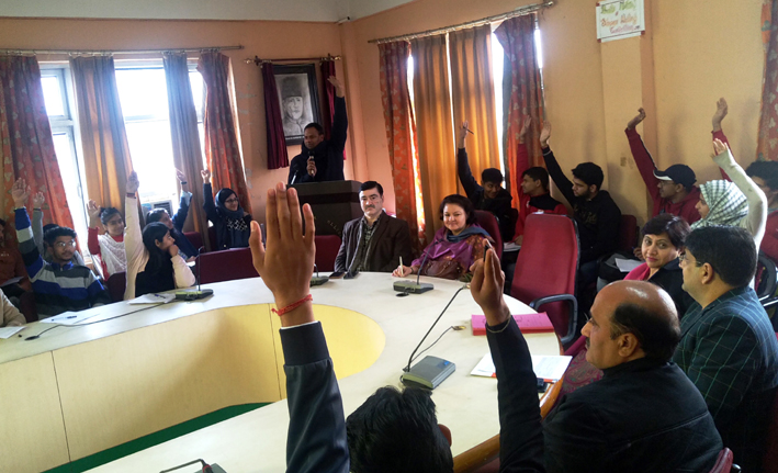 Programme on students excellence & learning being held at a Cluster University College on Monday.