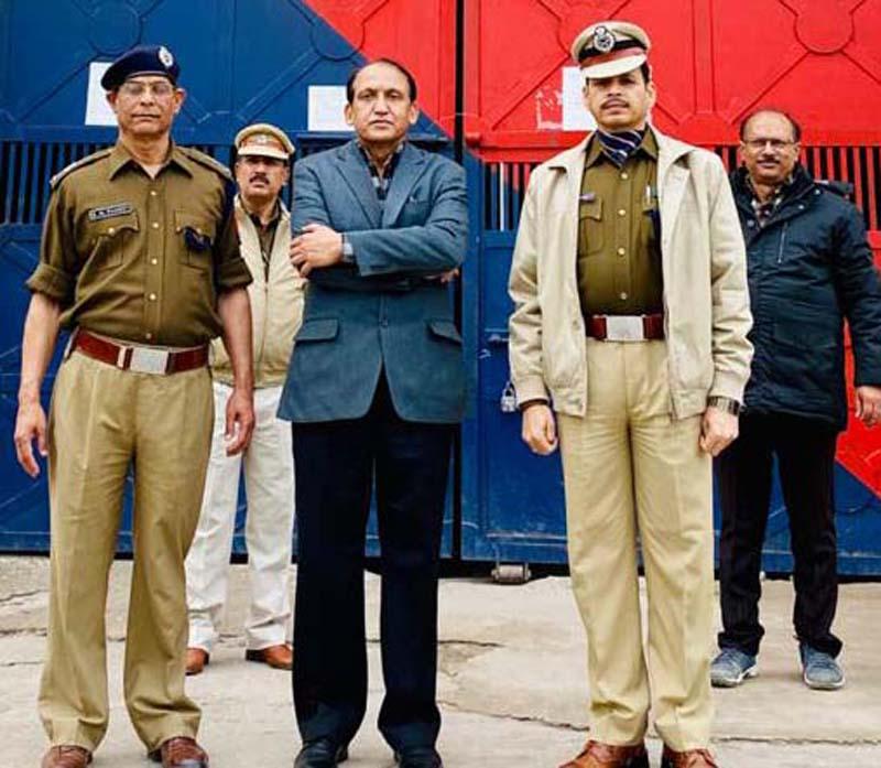 DG Prisons during visit to Prisons Headquarters Lucknow.