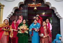 Ladies during Kunchoth festival celebrations at Bhaderwah. -Excelsior/Tilak Raj