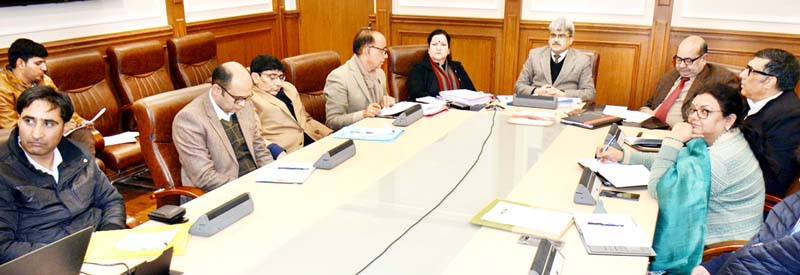 FC, Health and Medical Education Atal Dulloo chairing a meeting in Jammu on Tuesday.