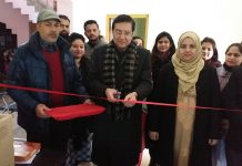 Chairman of District Legal Service Authority inaugurating a collection centre in Reasi on Tuesday.