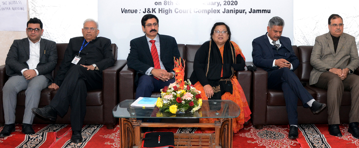 Chief Justice, J&K High Court, Justice Gita Mittal, Justice Rajesh Bindal and others during a training programme on