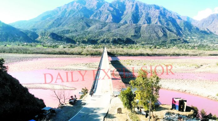Panoramic view of river Chenab surrounded by hills in Reasi. — Excelsior/Karandeep