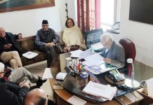 Executive body members of JKESL during a meeting at Jammu.