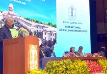 President Ram Nath Kovind delivering the valedictory address at the International Judicial Conference, organised by the Supreme Court of India, in New Delhi on Sunday.