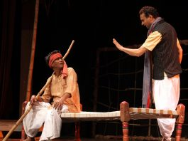 A scene from the play 'Babuji'. —Excelsior/Rakesh