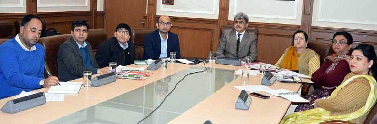Financial Commissioner, H&ME, Atul Dulloo chairing a meeting in Jammu.