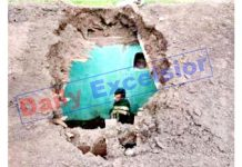 A house badly damaged in Pakistan shelling in Shahpur sector of Poonch on Friday. -Excelsior/Gurjeetbhajan
