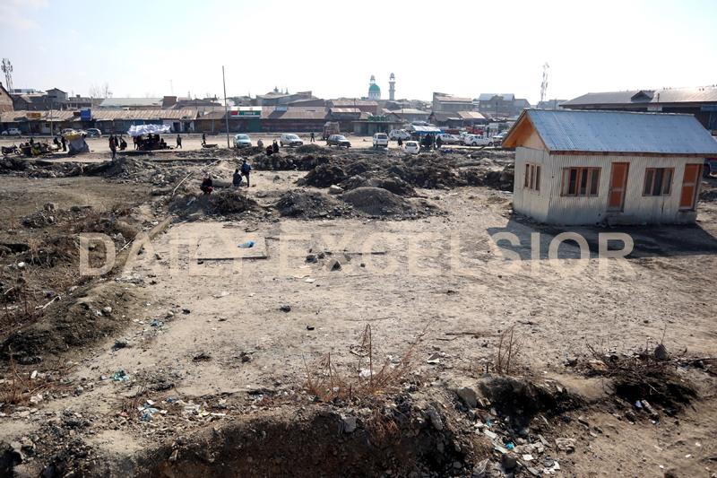 Proposed site of Srinagar Mini-Secretariat. -Excelsior/Shakeel