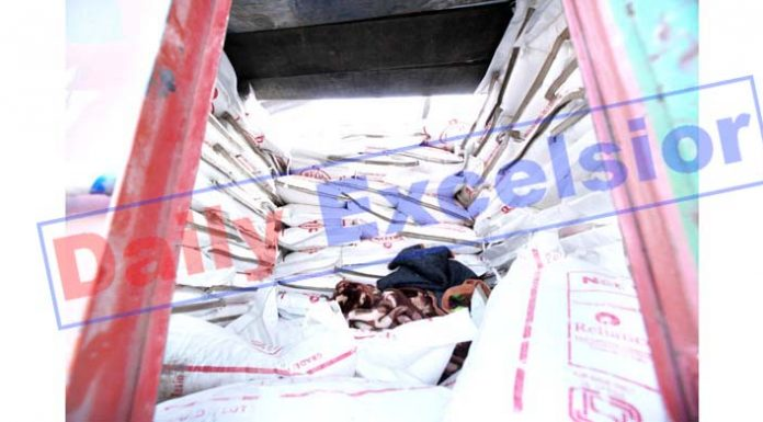 Cavity made inside the truck to hide militants. -Excelsior/Rakesh