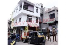 The ACB sleuths conducting searches at one of the house in Jammu on Thursday. —Excelsior/Rakesh
