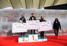 UT Ladakh girls who excelled in IDBI Marathon in Delhi. -Excelsior/Morup Stanzin