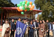 1st Sports Festival 2020 being inaugurated at GGM Science College in Jammu on Monday.