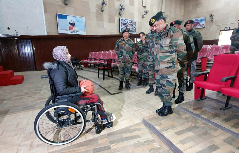 Ishrat Akhter testing gifted wheel chair.