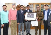 DGP Dilbag Singh honouring Police Everesters in Jammu.