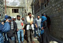 Divisional Commissioner Ladakh, Saugat Biswas during visit to Kargil.