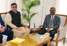 Lt Governor meeting chairman Gurjar Desh Charitable Trust on Wednesday.