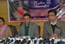 Divisional Commissioner Jammu Sanjeev Verma addressing a press conference.