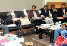 Divisional Commissioner Sanjeev Verma chairing a meeting in Jammu on Saturday.