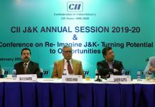 Advisor Farooq Khan along with others at a conference organized by CII at Jammu.