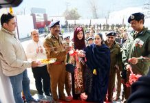 DGP Dilbag Singh and others during inauguration of Women Police Station at Doda.